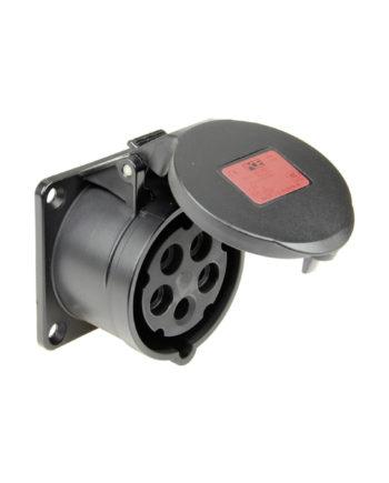 32a 5 Pin Panel Socket Black Pce 325 6xs