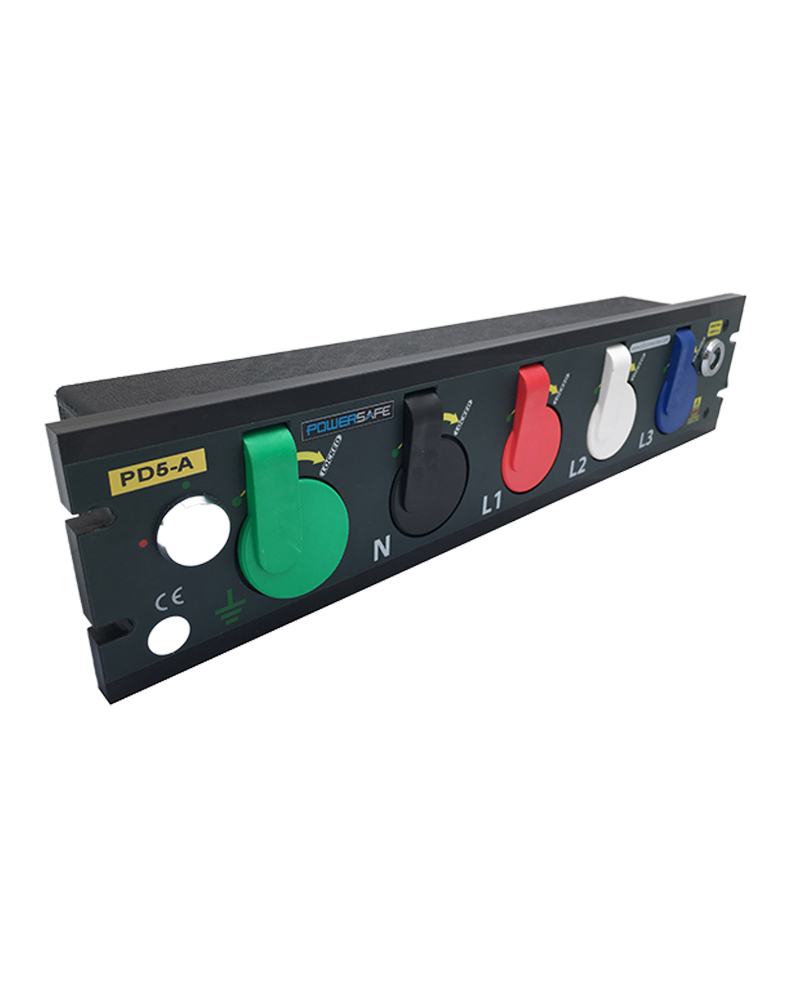 800a Prefabricated Rack Mount Powersafe Outlet Box 5 Pole