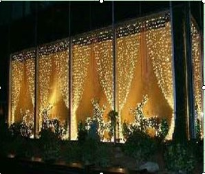 Outdoor Led Light Curtain Professional Grade 2m W 2m H