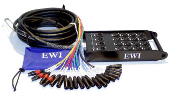 EWI PSPX 16 CHANNEL SEND X 4 CHANNEL RETURN XLR SNAKE 100' 30m