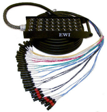 EWI PSPX 28 CHANNEL SEND X 4 CHANNEL RETURN XLR SNAKE 100' 30m