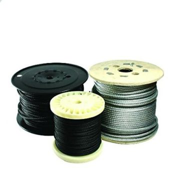 Doughty T403001 - Flexible Wire Rope - Black - 6mm -100m Roll