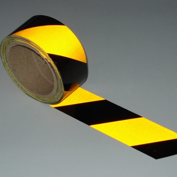 Reflective Hazard Tape Black and Yellow