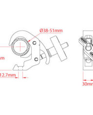 Doughty Slimline Quick Trigger 48-51mm 100 KG Black Doughty T58301