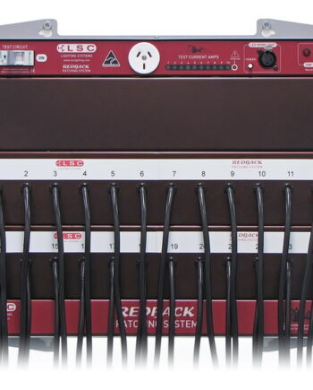 Patch Bay LSC Redback 24 Circuit Rack Mount Unit RBP24T with Test Module