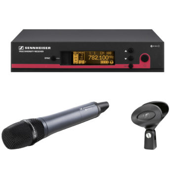 Sennheiser EW 135 G3 Hand Held Mic Kit and Receiver (Rechargeable Option)