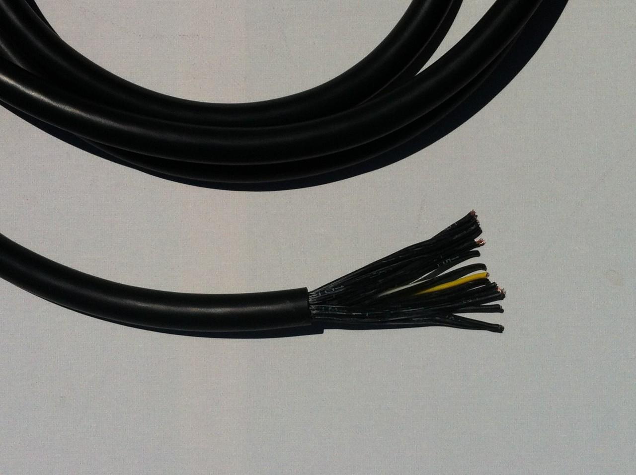 18 Core 1.5mm PVC Cable Black - SHOWTECHNIX