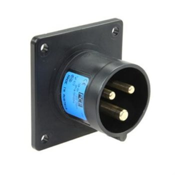 PCE Midnight Series 16A Male Panel Inlet  3 Pin Plug 613-6x