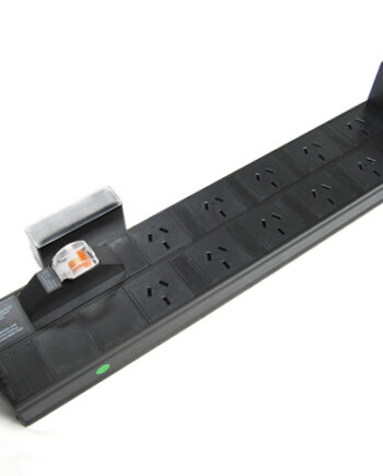Horizontal Rack Power Rail, 10 x 10A Outlets, 10A MCB