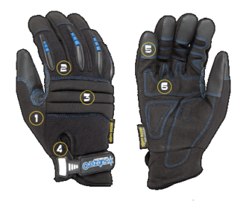 Sub Zero Gloves Dirty Rigger DTY-PROTECFRM