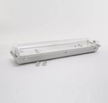 Under Verandah 2X18W HPF U/V FITTING IP65 - Weather Resistant Flourescent