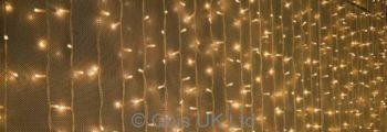 Outdoor LED Light Curtain Professional Grade 2M W 3M H extendable IP44