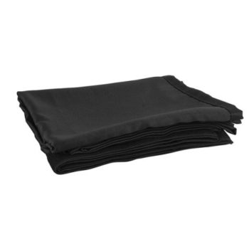 Stage Skirt c/w Velcro Black Molton 6m wide x 1m drop