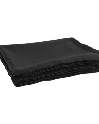 Stage Skirt c/w Velcro Black Molton 6m wide x 1m drop