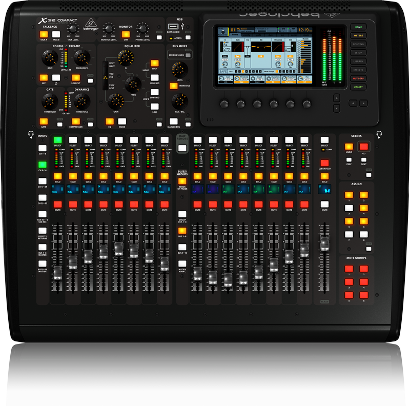 behringer x32 compact 40 in 25 bus digital mixer bex32 compact showtechnix. Black Bedroom Furniture Sets. Home Design Ideas