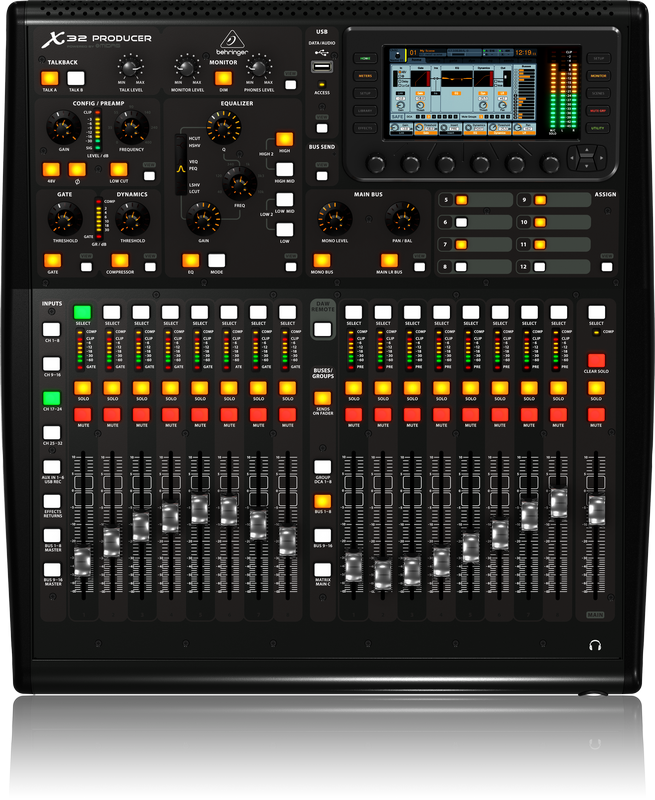 behringer x32 producer 40 in 25 bus digital mixer bex32producer showtechnix. Black Bedroom Furniture Sets. Home Design Ideas