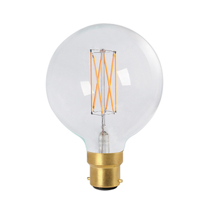 G125 Dolly 3w LED Filament Lamp - Clear - Dimmable