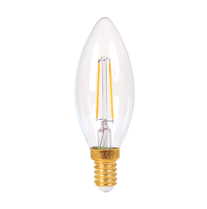 G35 Candle 2w LED Filament Lamp - Clear - Dimmable