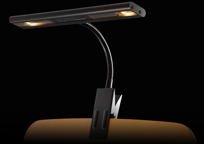 duo clip on music stand light mains 230v rat stands showtechnix. Black Bedroom Furniture Sets. Home Design Ideas