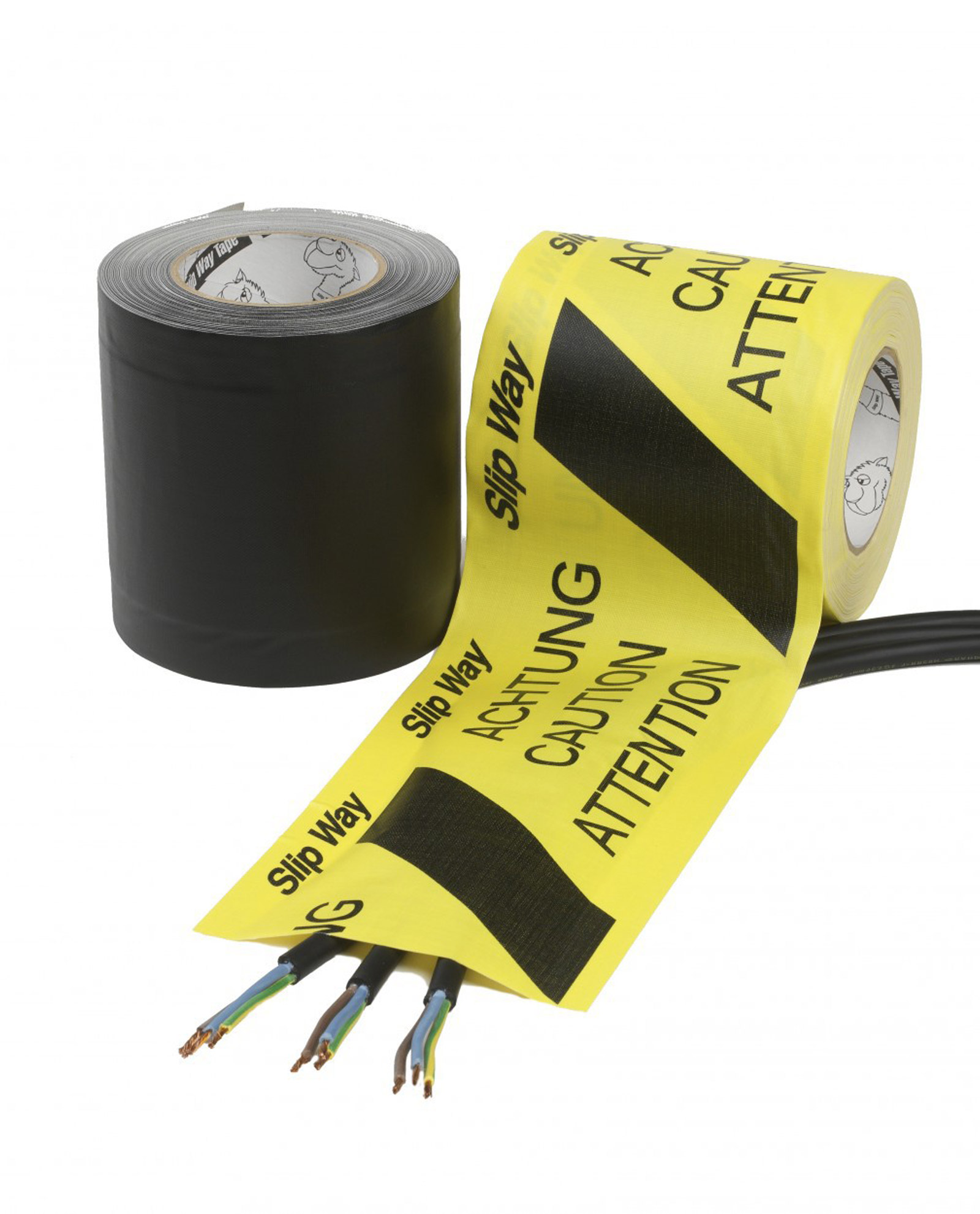 Cable Management Tapes Slipway Black Yellow