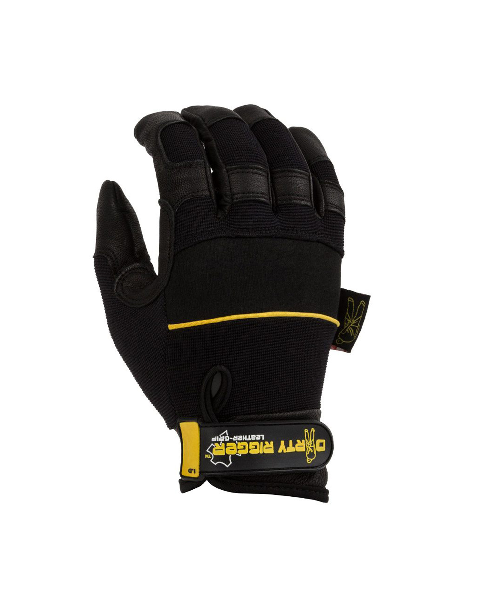 Dirty Rigger Glove Dty Lgrip Leather Grip Full Handed Glove