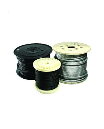 Doughty Flexible Black Wire Rope 100m Roll
