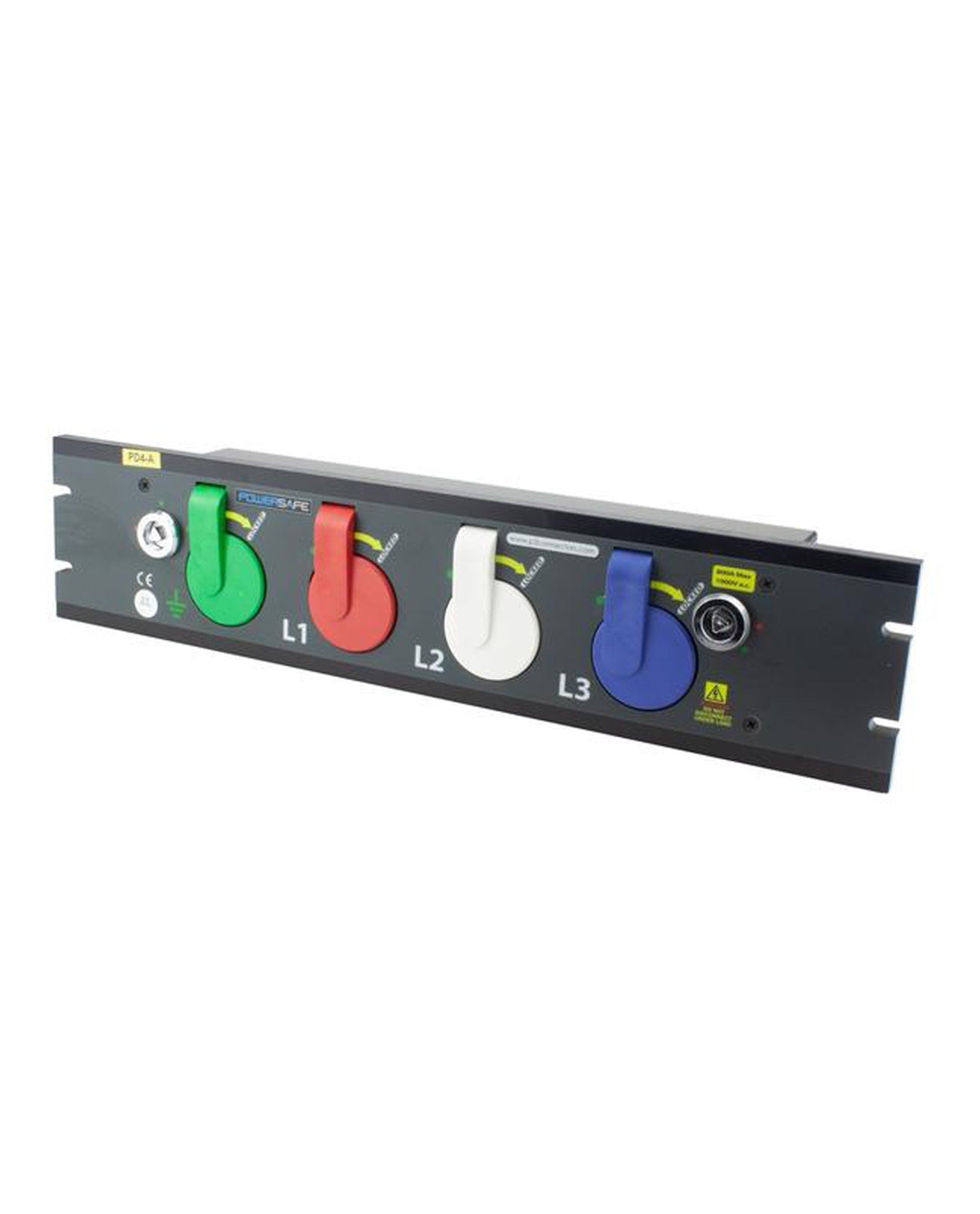 800a Prefabricated Rack Mount Powersafe Inlet Box 4 Pole
