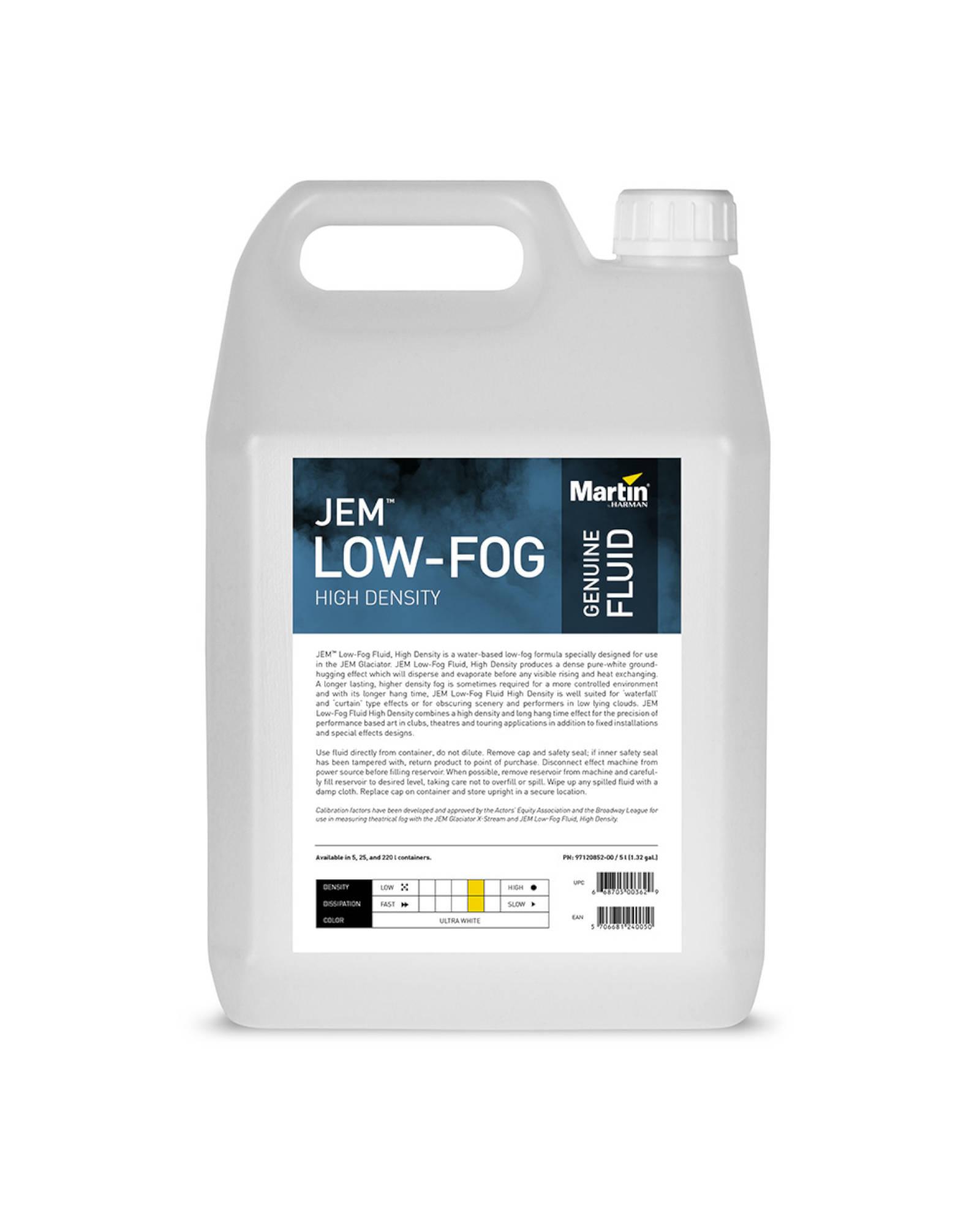Jem Low Fog Fluid, High Density