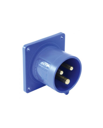 16a 3 Pin Panel Inlet Blue Pce 613 6f3