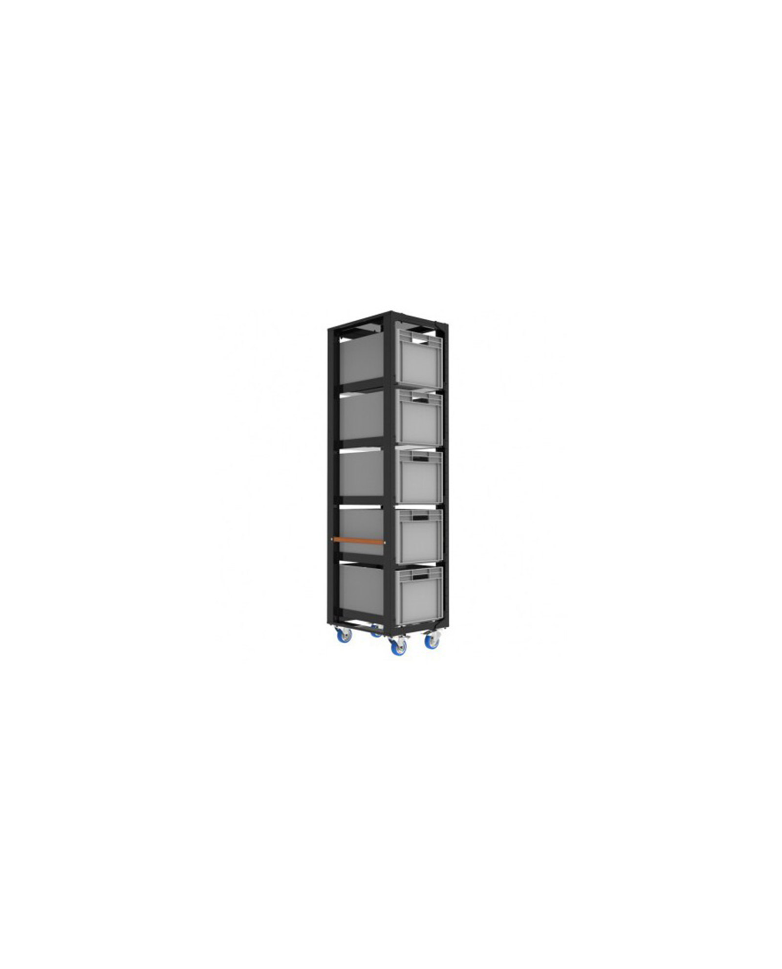 Admiral Staging Storage Cart H203 With Crates And Top Lid