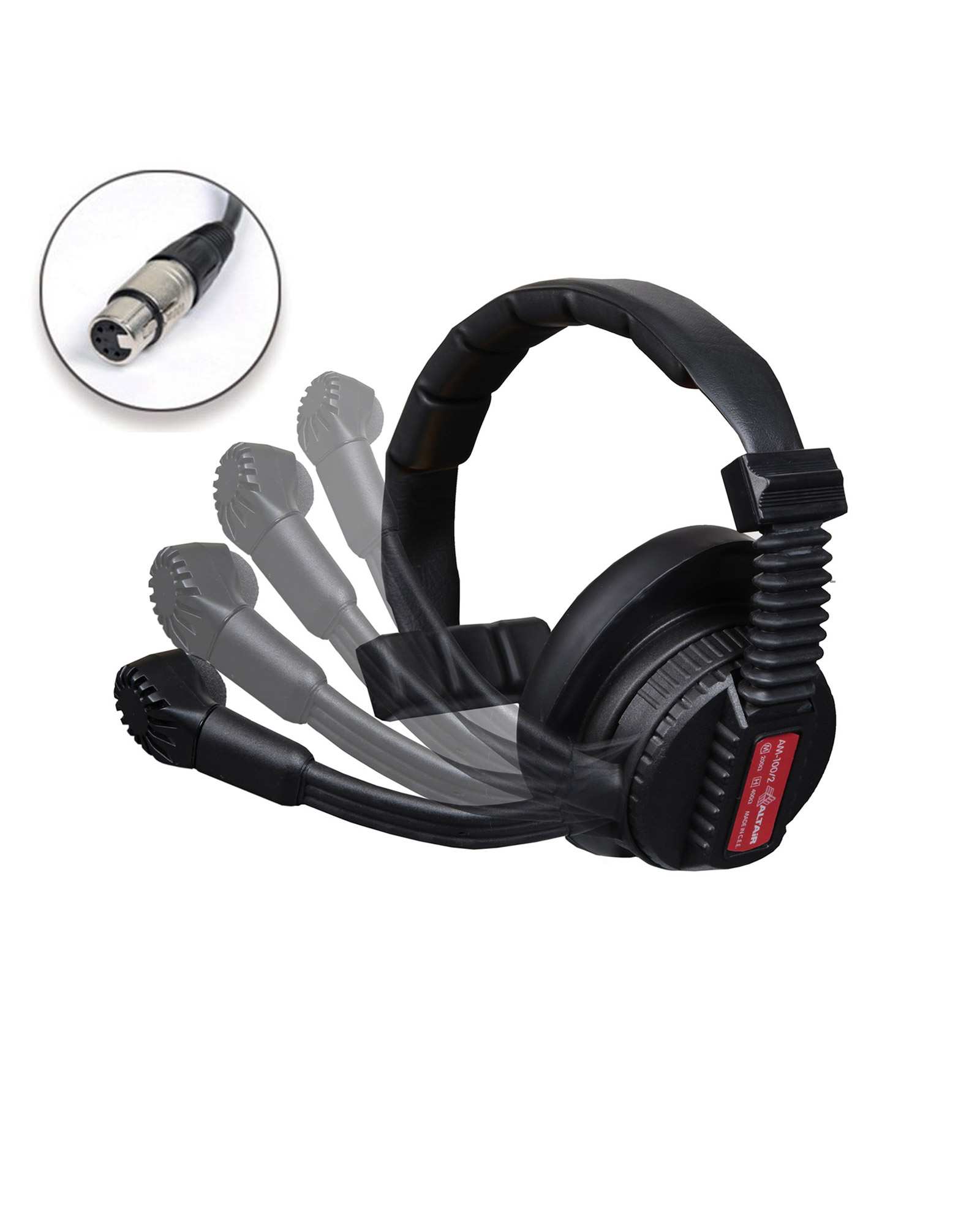 Altair Am 100 2s Single Muff Comms Headset With Mic Boom Switch