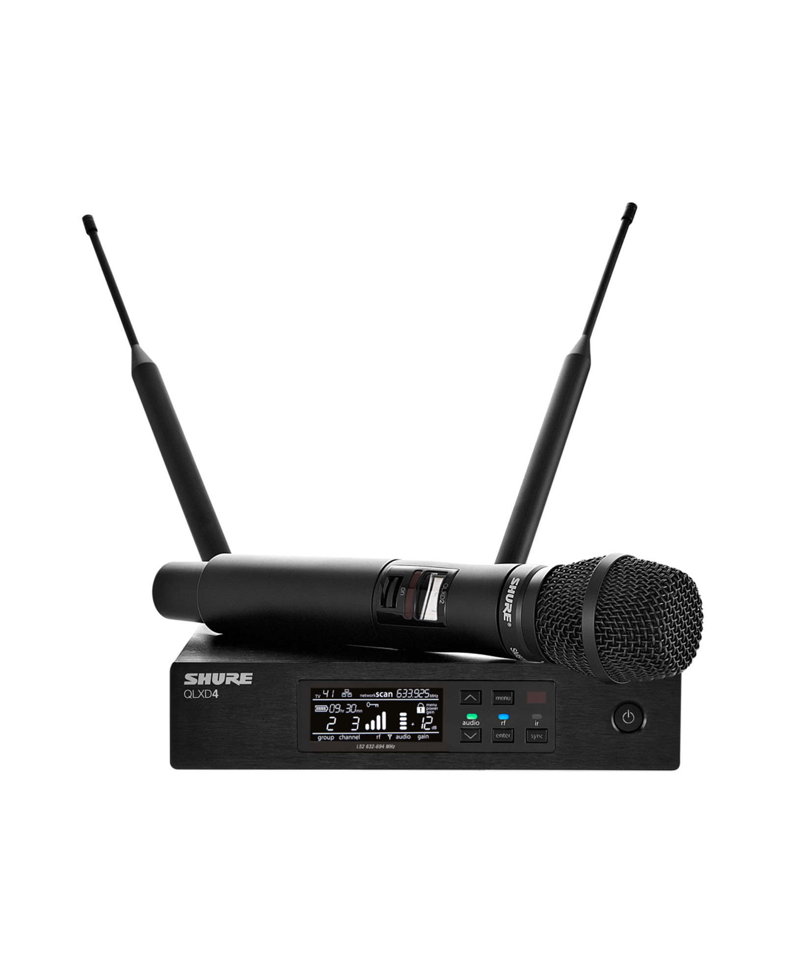 Shure Qlxd2 Sm87 Handheld Transmitter With Sm87 Capsule 1