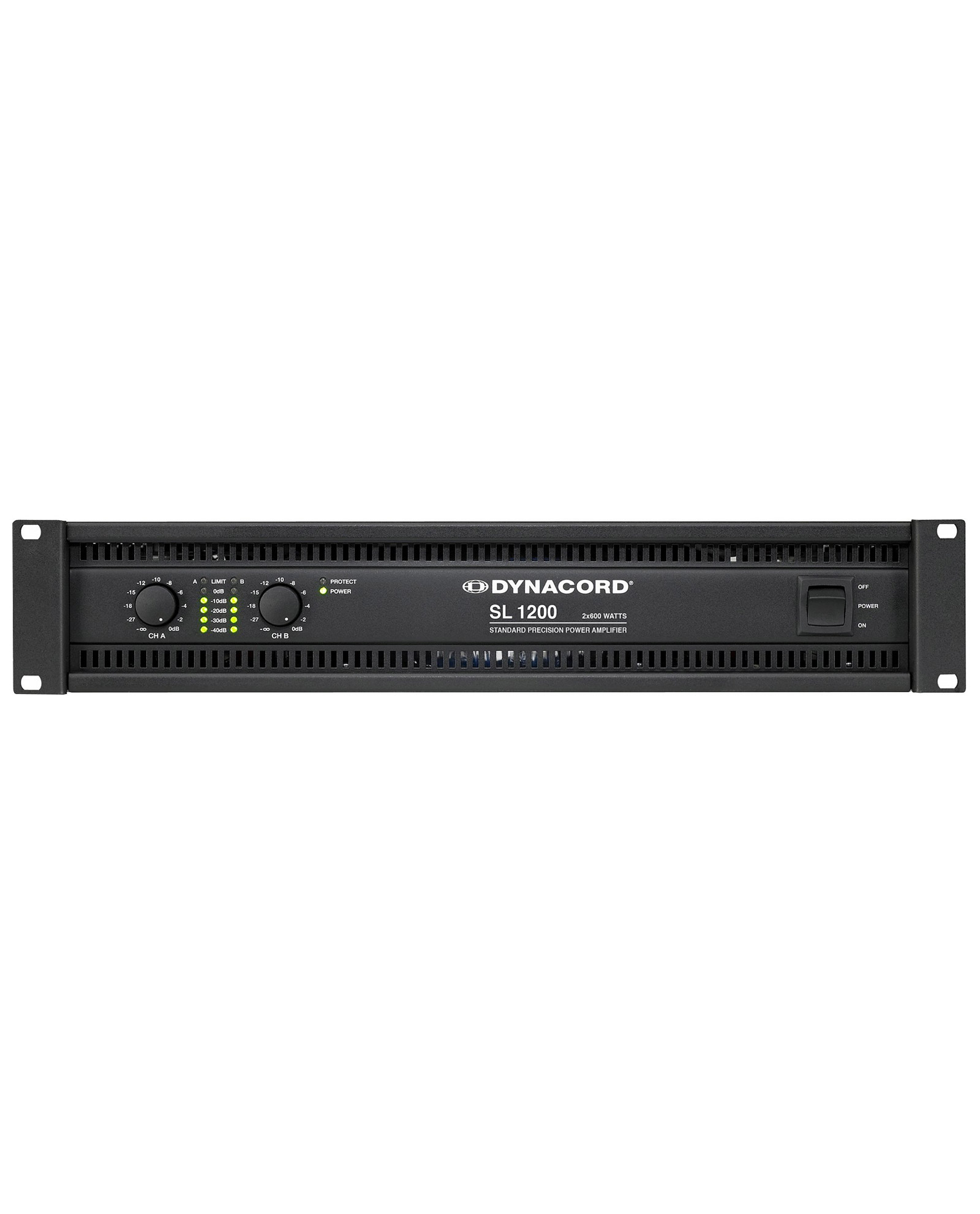 Dynacord Sl1200 2x600w Power Amplifier 1