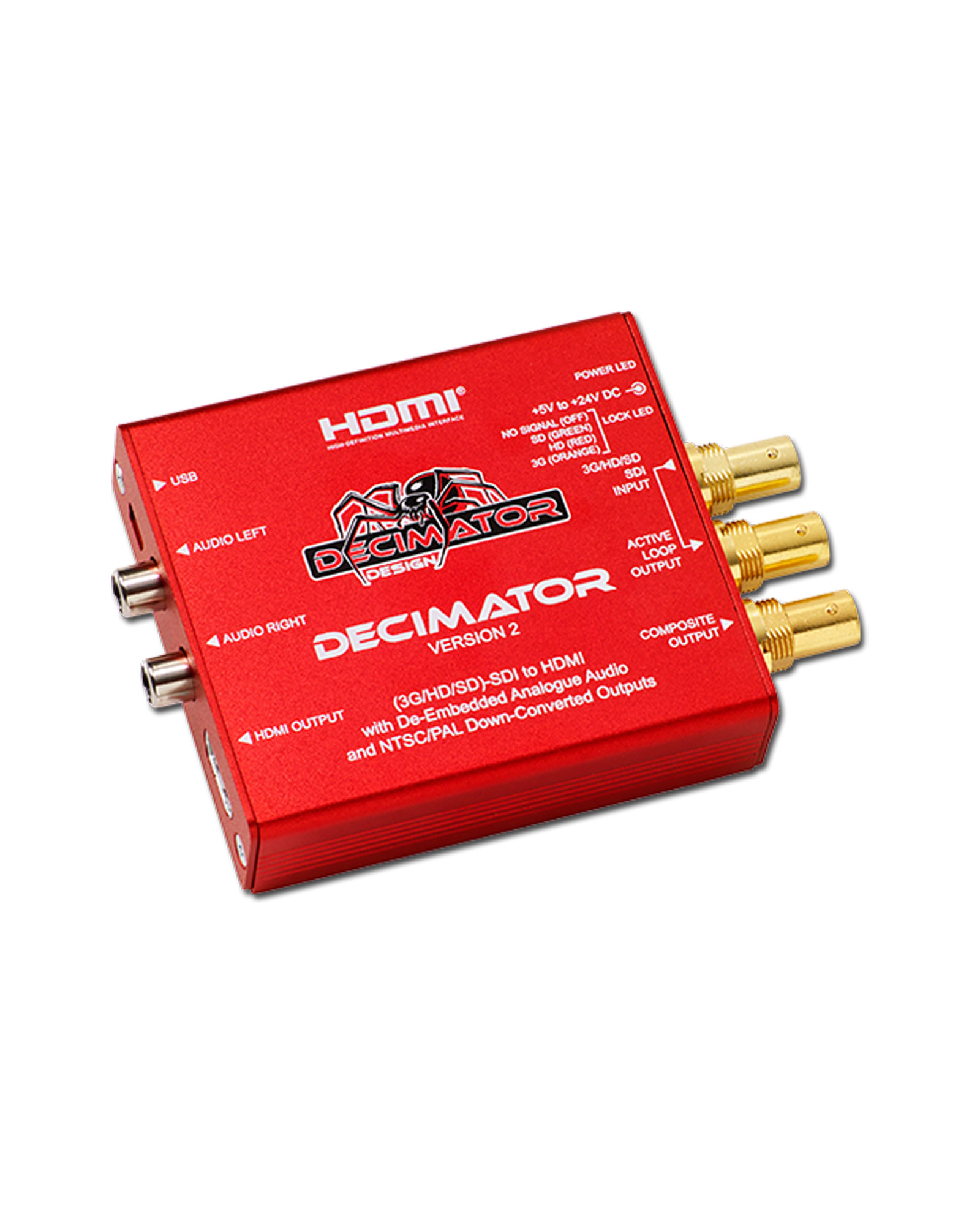 Decimator Design Decimator 2 3g Hd Sd Sdi To Hdmi With De Embedded Analogue Audio