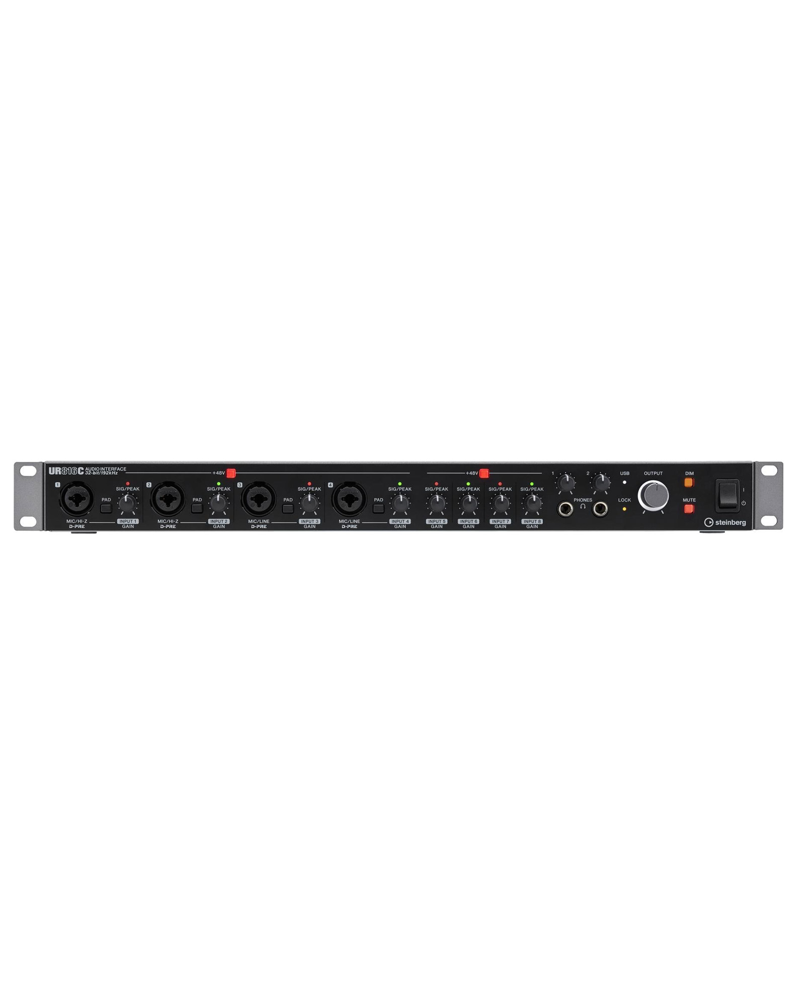 Steinberg Ur816c 16 X 16 Usb 3.0 Audio Interface Front