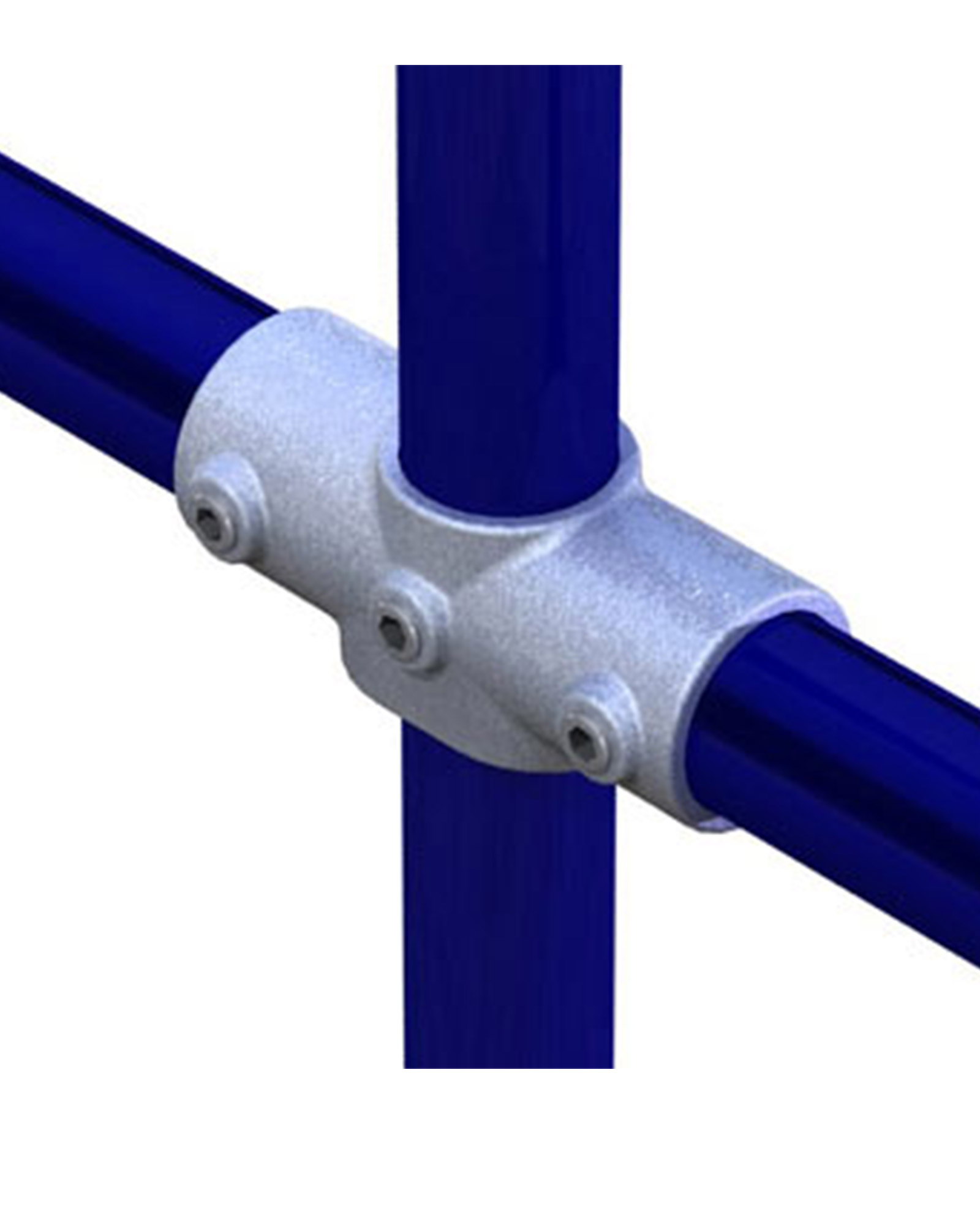 Doughtypipeclamp Angled Two Socket Cross