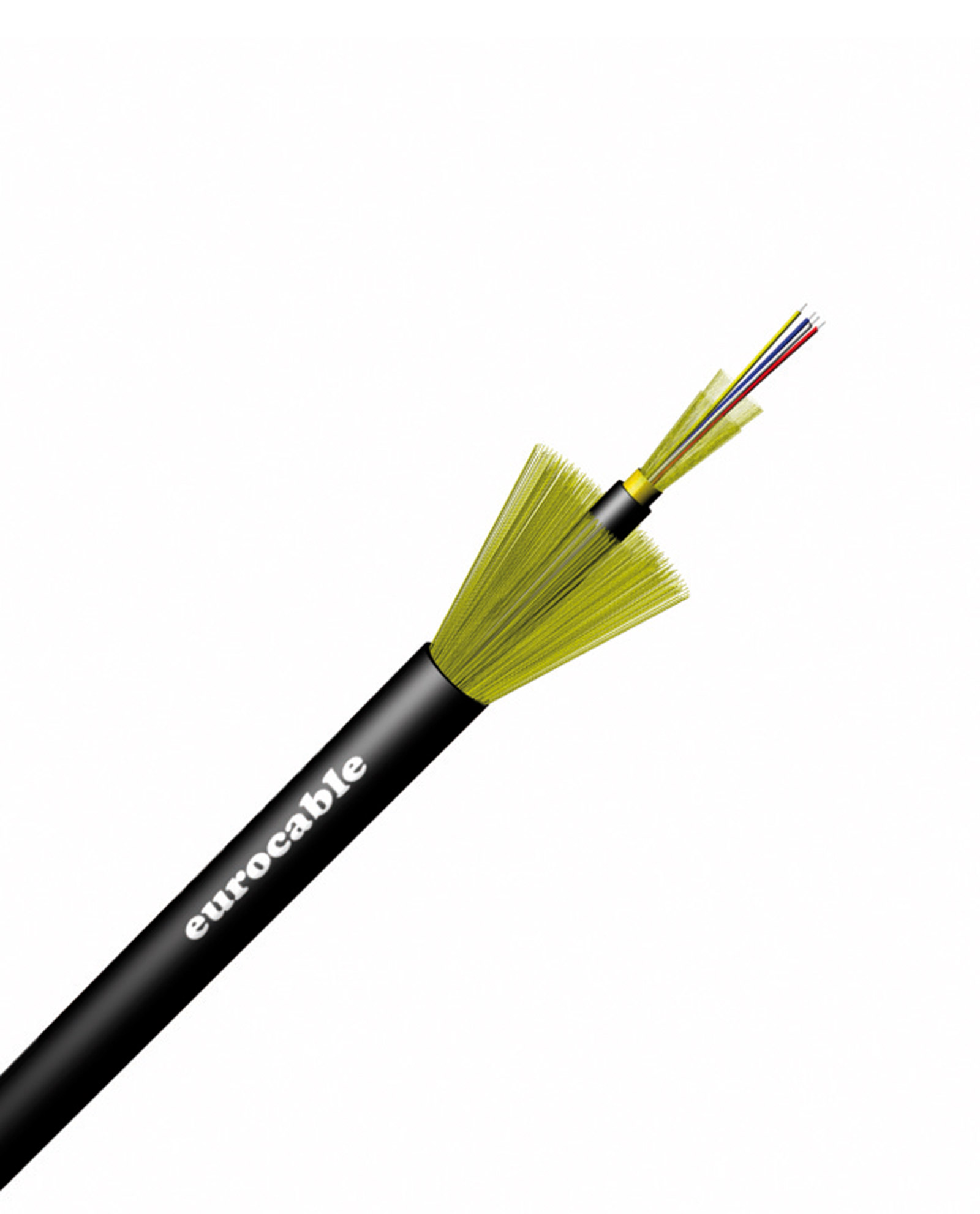 Eurocable Multicore Unbreakable Single Mode Fibre Optic Cable 7.10mm