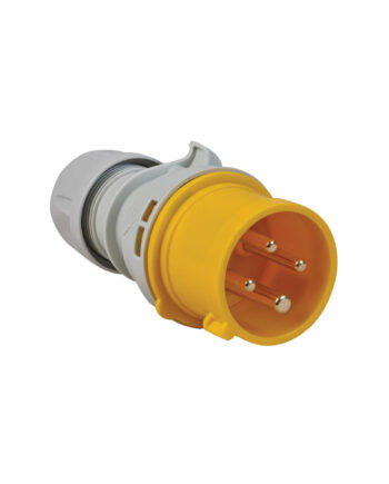 Pce 014 4 16a 4 Pin Plug Ip44 Motor Cable Yellow