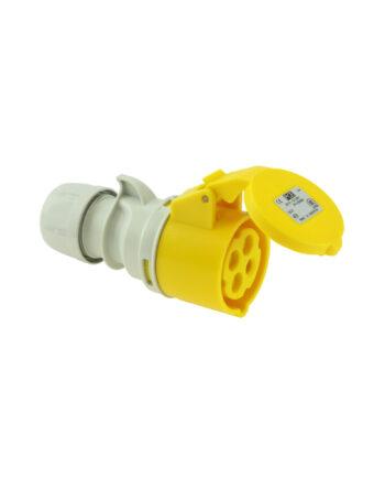Pce 214 4 16a 4 Pin Socket Ip44 – Motor Cable Yellow