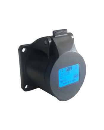 Pce 313 6f5x 16a 3 Pin Panel Socket Black