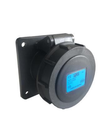 Pce 3132 6x 16a 3 Pin Panel Socket Ip67 Black