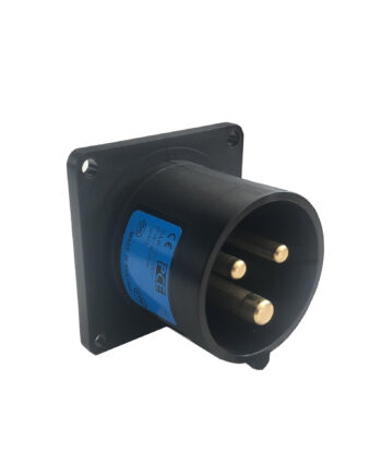Pce 613 6f3x 16a 3 Pin Panel Inlet Black