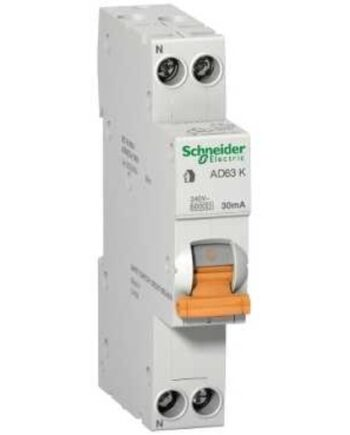 Schneider Domae Rcbo Slim 1p+n 30ma 6ka Type A