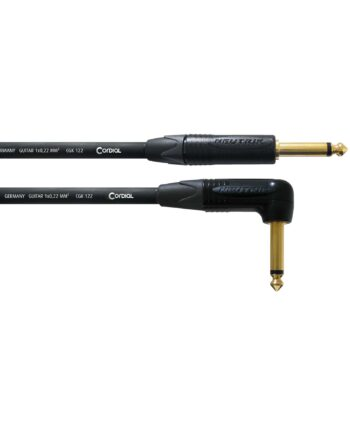 Cordial Essentials Rean Plug 6.3mm Mono Gold Right Angled Plug 6.3mm Mono 1